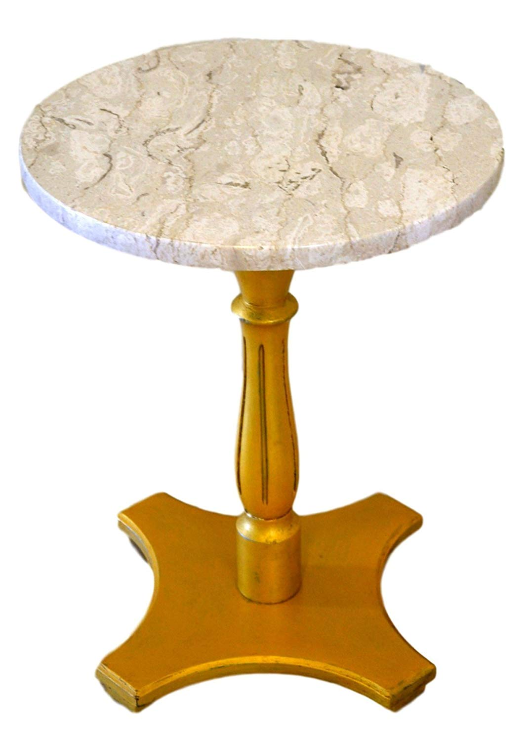 round marble top accent table gold pedestal base handmade end black leather couch silver trunk coffee patio set covers best tablecloths christmas arrangement ideas small garden