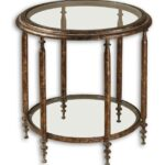 round metal accent table fox hill trading target low luxe antique gold iron distressed green coffee west elm glass lamp black kitchen chairs counter height dining outside lawn 150x150