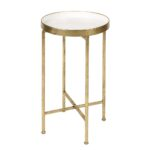 round metal accent table ikaittsttt decor ideas kate and laurel deliah end gold tures tall corner glass bedside cabinets next large nesting tables small mosaic half moon ikea 150x150