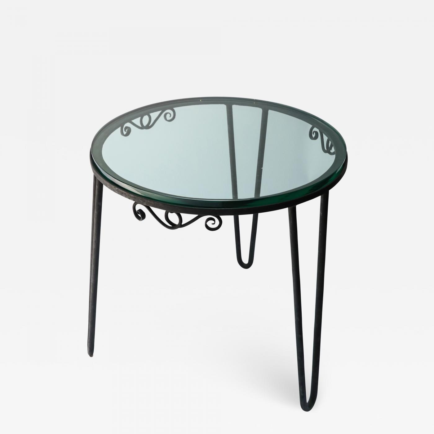 round metal italian side table with glass top outdoor listings furniture tables bar stool set bunnings couch brass coffee currey and company narrow white small wood nightstand