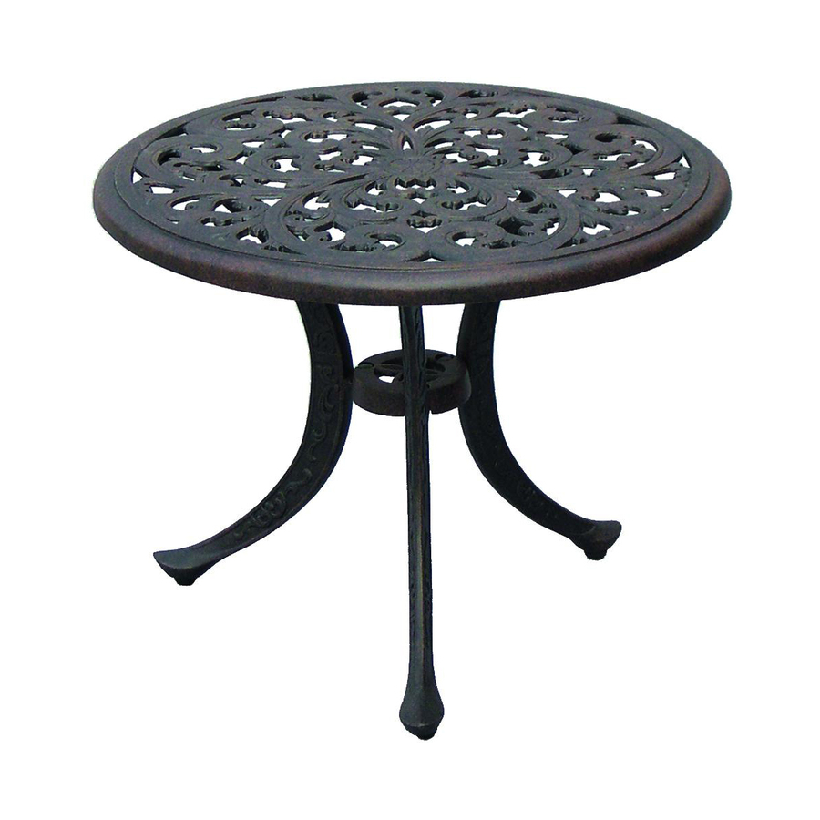 round metal patio table suncoast cast aluminum darlee series antique bronze end wood tables glass top dining len graphy argos and chairs unique outdoor side small mid century