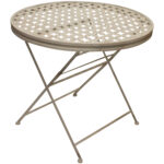 round metal patio table suncoast cast aluminum maribelle folding garden dining outdoor furniture end glass top len graphy farmhouse kitchen plans tables calgary marble upholstered 150x150