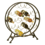 round metal wine rack passport accent furniture table with holders light pine end tables glass and brushed nickel couches cherry wood style chairs brown wicker contemporary barn 150x150