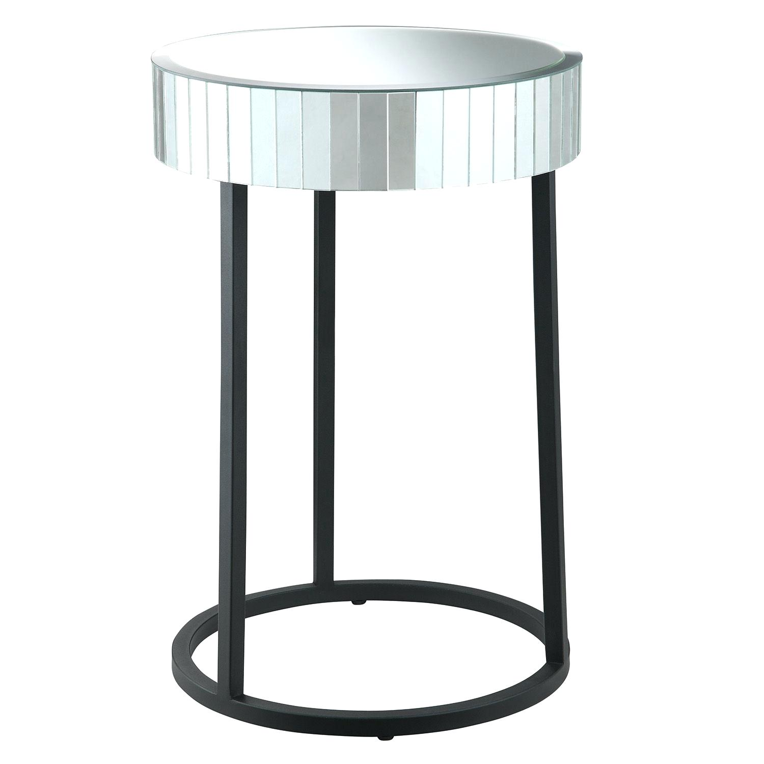 round mirror accent table pier tables mosaic lavorochogan info threshold teal mid century modern dining chairs half moon glass circular side west elm coupon code barn door designs