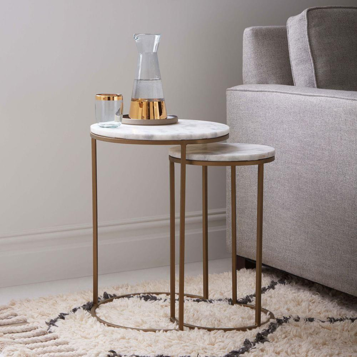 round nesting side tables set marble antique brass best living threshold owings accent table glass dining and chairs clearance barbie doll furniture device charging end asian lamp
