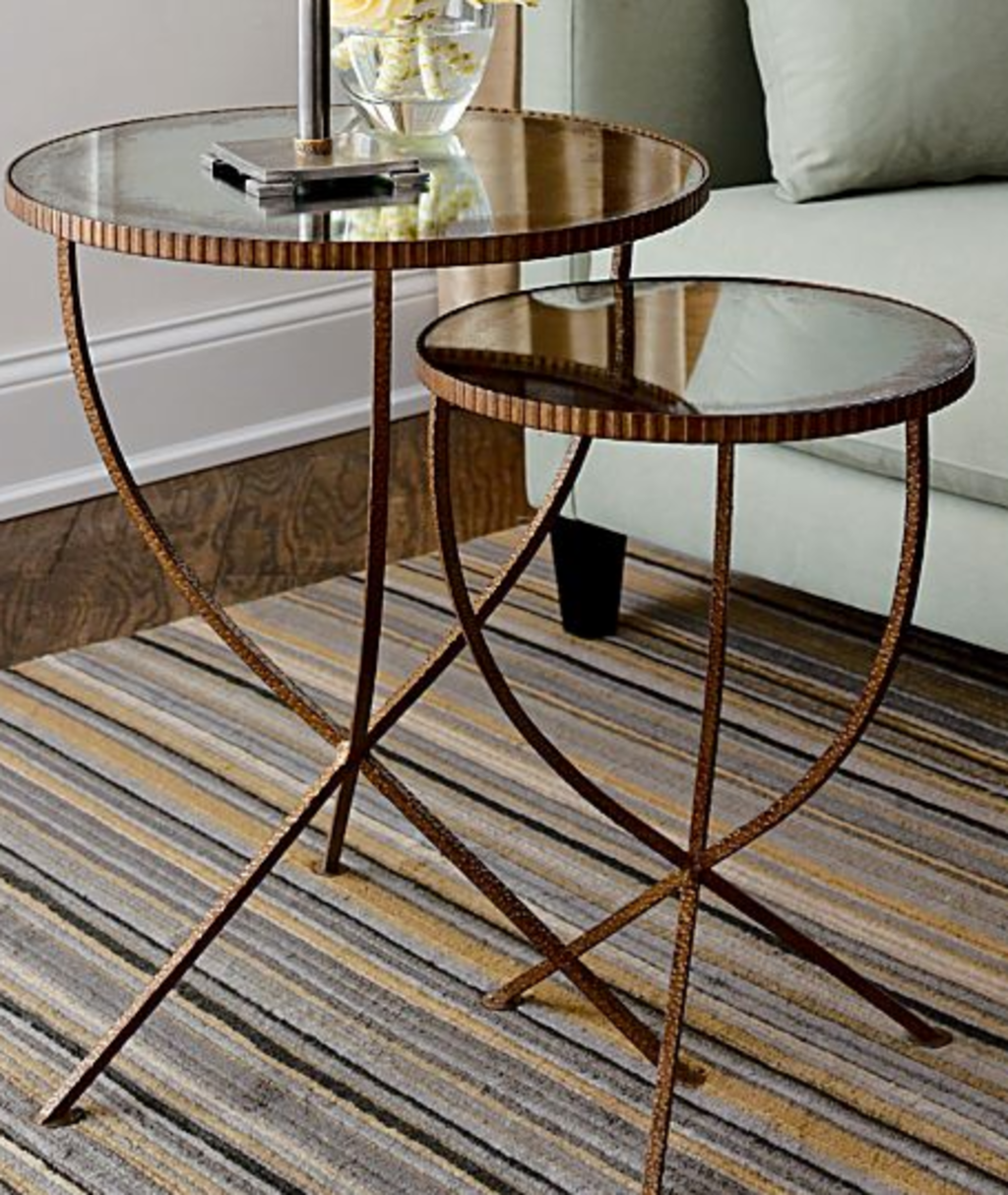 round nesting tables apartment therapy jules accent table end with mirror curved acrylic coffee modern patio chairs gold metal white lamp battery lamps for home furniture west elm
