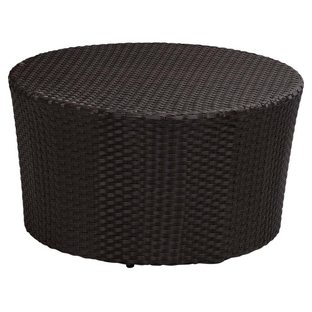 round outdoor coffeecocktail table loll designs lollygagger cocktail sunset west solana coffee wicker cover with umbrella hole diy plans target base side full size windham accent