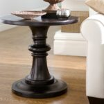 round pedestal accent table furniture design popular with pottery barn rustic copy cat chic decor sofa wine storage console cabinet glass end tables contemporary outdoor mosaic 150x150