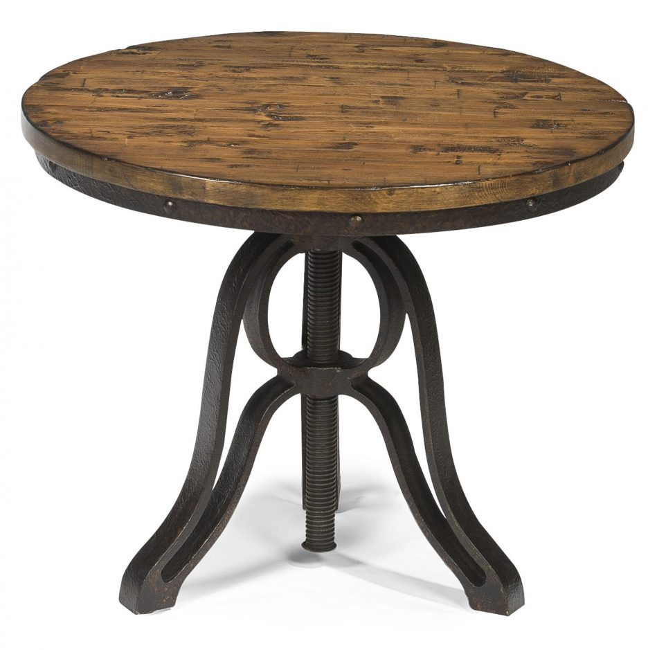 End Tables Clearance: Round Pedestal Side Table Black Wood And Metal End Tables