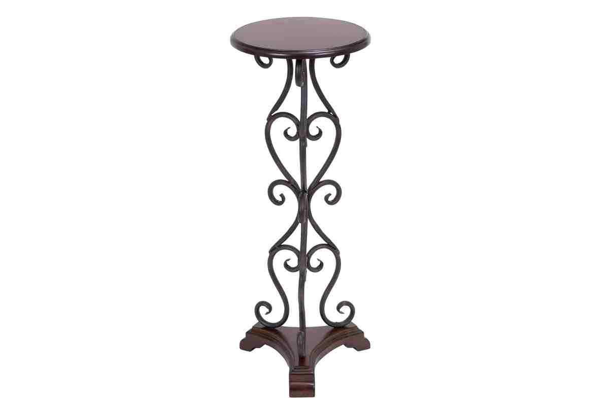 round pedestal table small wooden made metal and accent will great little piece for tight spot perfect plant stand statue inch deep console cabinet outdoor credenza tall end