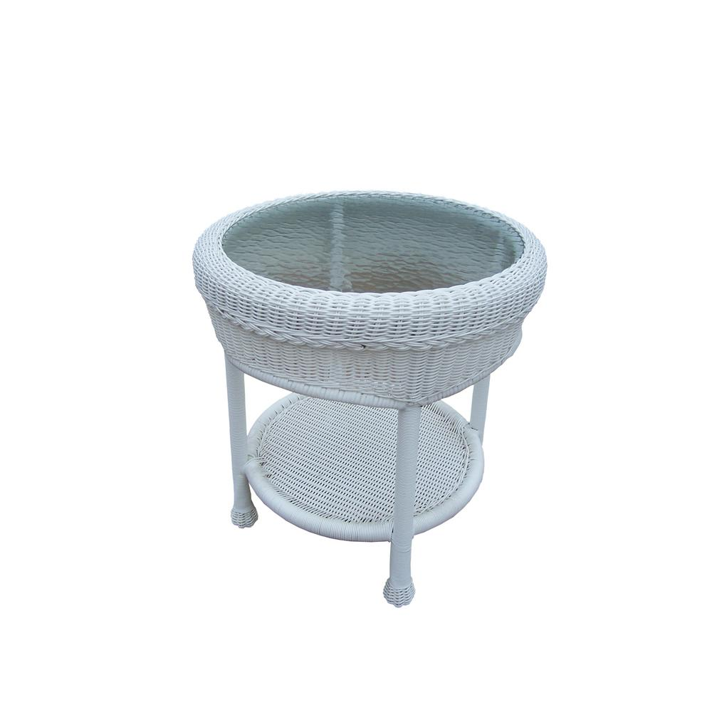 round resin wicker outdoor side table the tables diy cocktail pottery barn industrial dorm stuff nautical dining room lights furniture moving pads pier imports chairs small silver