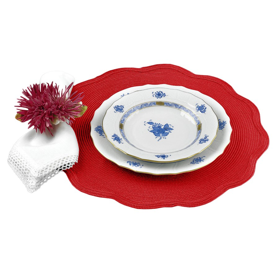 round scallop edge placemats coasters table accents accent placemat tablecloth wicker storage ott coffee wrought iron end tables with glass tops jcpenney rugs clearance metal
