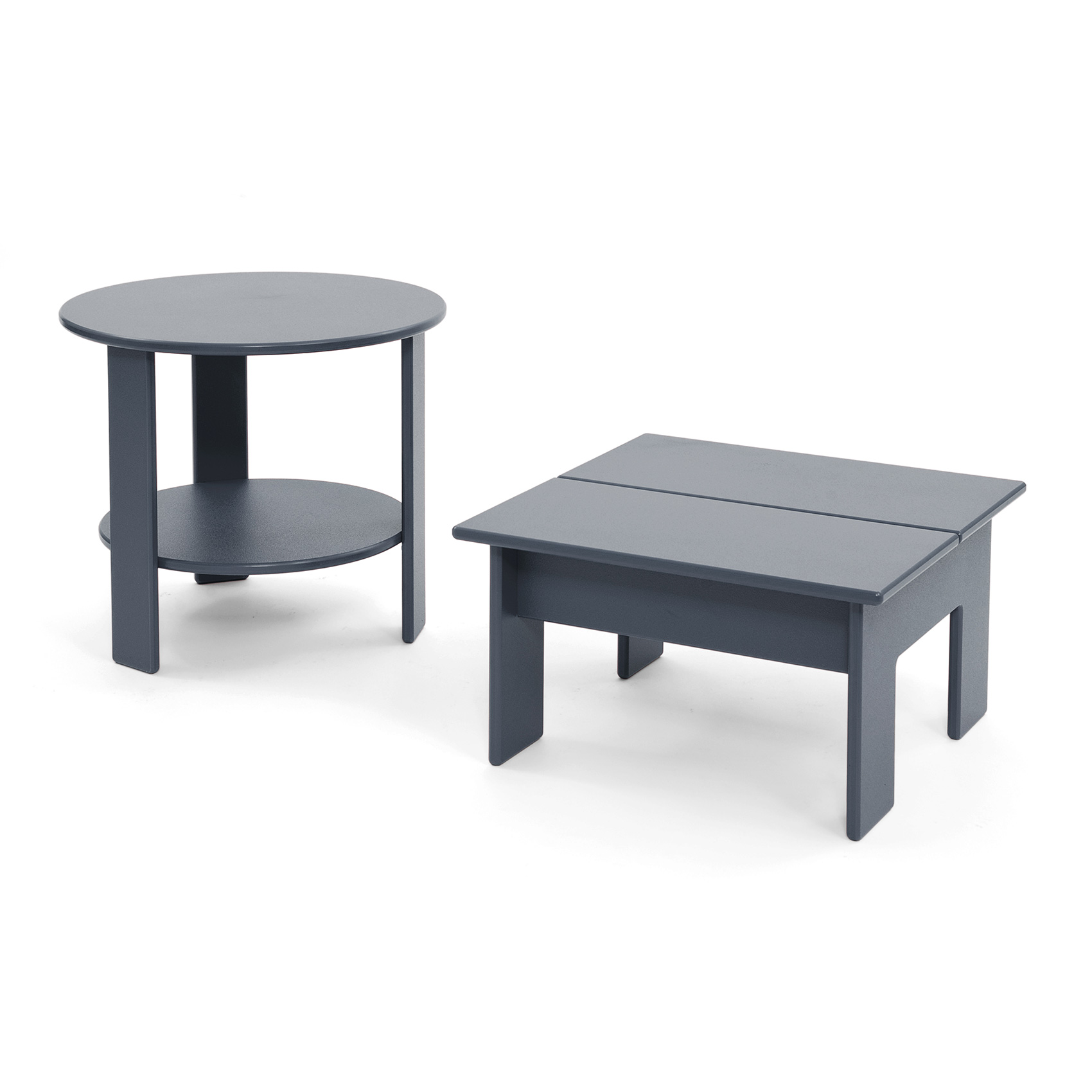 round side table for outdoor lollygagging loll designs lollygagger sidetable set grey and chairs under cabinet wine rack gray dining room patio umbrella fabric mirrored chest