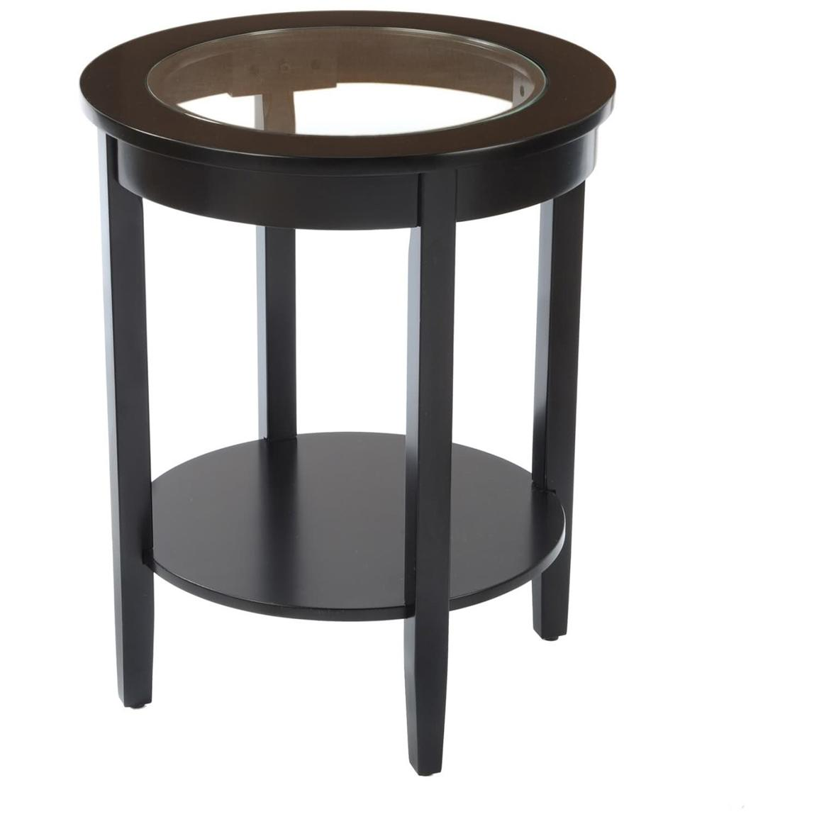 round side table with glass top living room furniture accent drawer black nautical swag light dark brown bedside cabinet square market umbrella marble stone coffee outdoor lounge