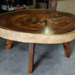 round slab dining tables decor direct whole wood slice accent table you find just the right already finished and ready otherwise can choose your own live edge slabs style them for 150x150