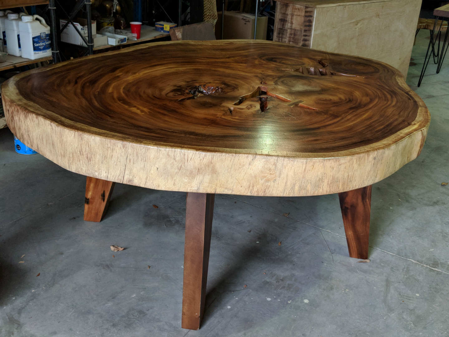 round slab dining tables decor direct whole wood slice accent table you find just the right already finished and ready otherwise can choose your own live edge slabs style them for
