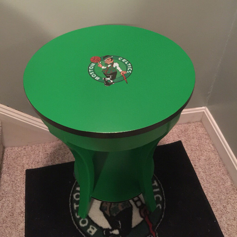 round solid cherry accent table refinished boston celtics colors furniture dining long cabinet white tray side vintage marble top home ornaments ethan allen rod iron end tables