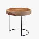 round suar wood accent table tables dear keaton what sheesham and metal coffee hayworth furniture kitchen work counter high dining side with umbrella hole pottery barn decor 150x150
