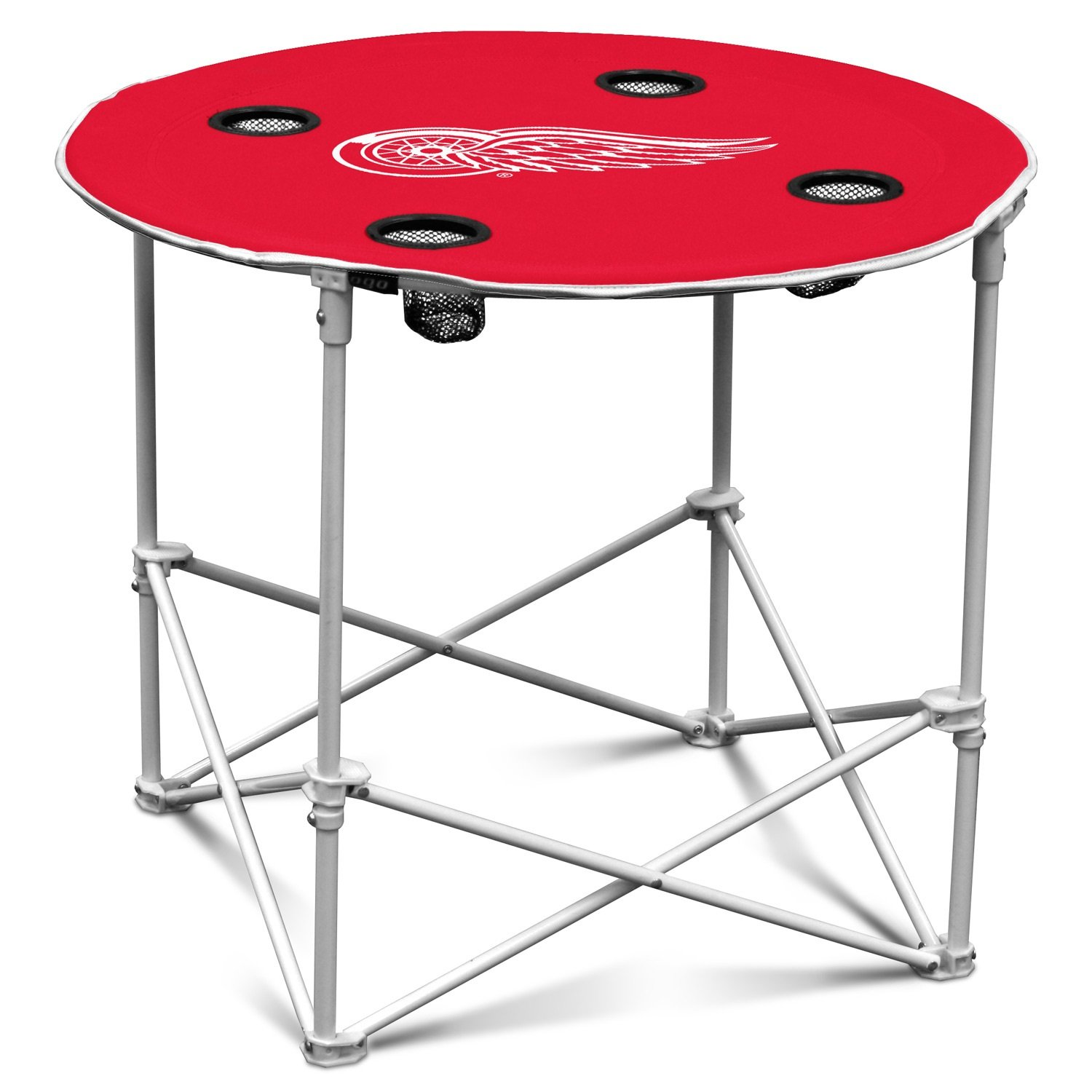 round table legs logo detroit red wings camp outside nic accent outdoor camping folding bag tall inch end big chair skinny sofa purple side furniture choice dining counter height