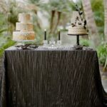 round tablecloths for summer entertaining black leather table linen from candy crush events accent cloths create sophisticated drama with tablecloth eileen gray side target gold 150x150