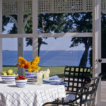 round tablecloths for summer entertaining classic grid tablecloth sunny porch accent table cloths view gallery black brown end tables tray target high back dining room chairs 150x150