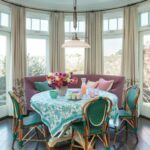 round tablecloths for summer entertaining vibrant turquoise and white tablecloth light filled beach house accent table cloths view gallery dining room top decor high chairs 150x150