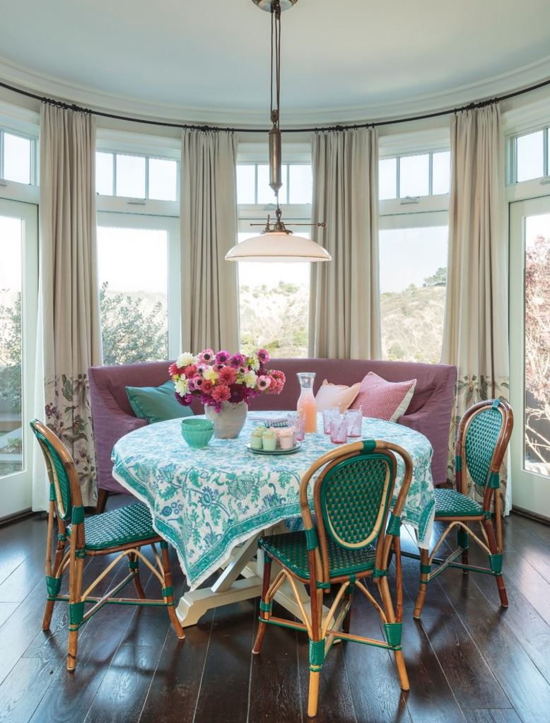 round tablecloths for summer entertaining vibrant turquoise and white tablecloth light filled beach house inch accent table view gallery hammered brass side solid wood coffee