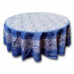 round tablecloths our best table rajasthan block print floral tablecloth rectangular cotton napkins placemats runner accent cloths linens decor pottery barn kids fabric storage 150x150