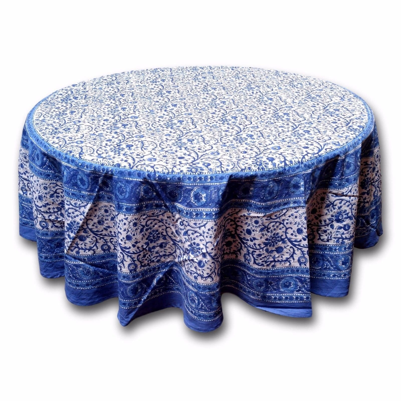 round tablecloths our best table rajasthan block print floral tablecloth rectangular cotton napkins placemats runner accent cloths linens decor pottery barn kids fabric storage