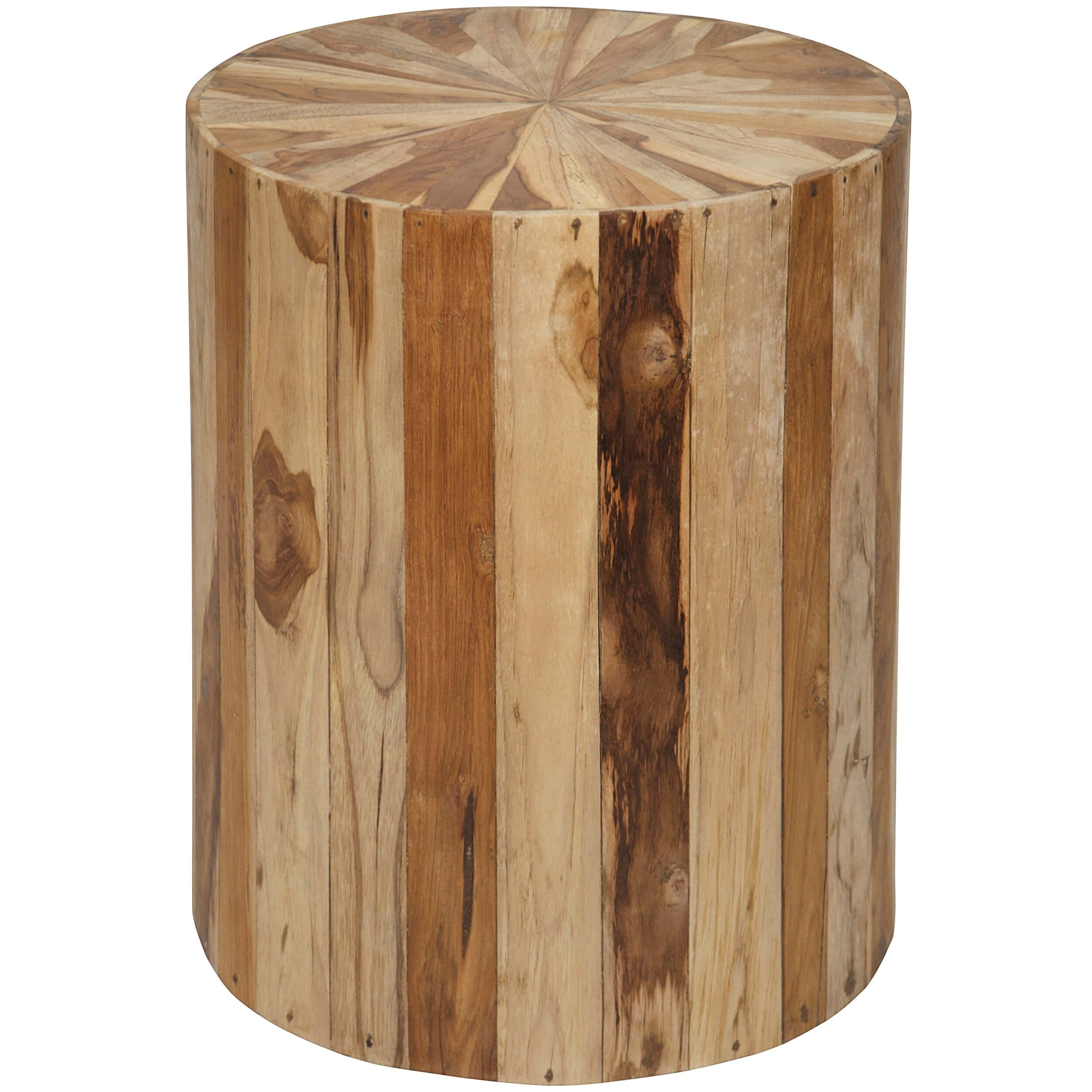 round teak wood side table end tables accent furniture dining stump corner hall stools outdoor patio cloth tablecloths chairs for balcony large antique coffee sauder shoal creek