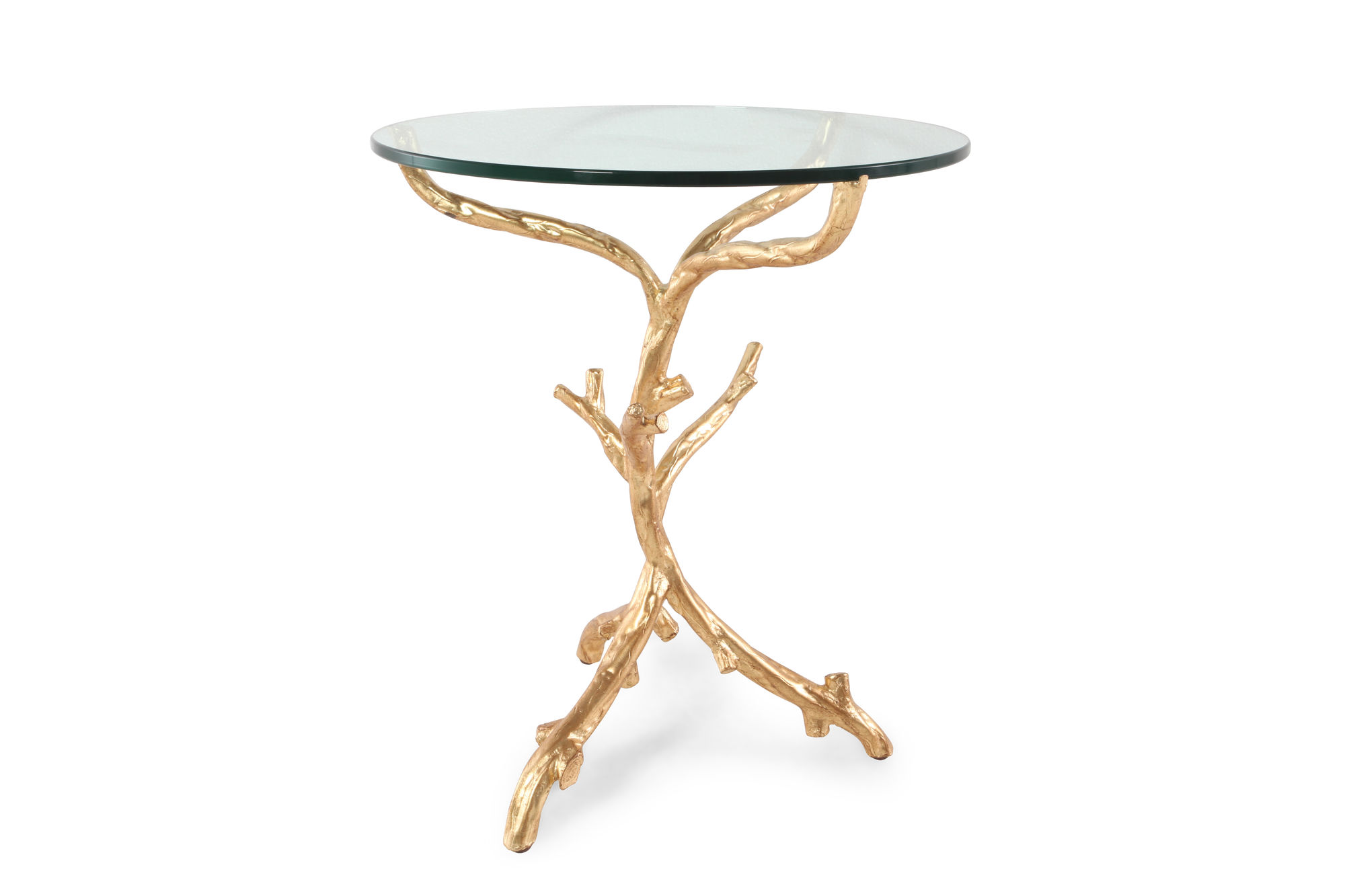 round tempered glass top end table gold leaf mathis brothers img hammered accent living room shelves martini side iron tables with tops deep console vintage crystal lamps mid
