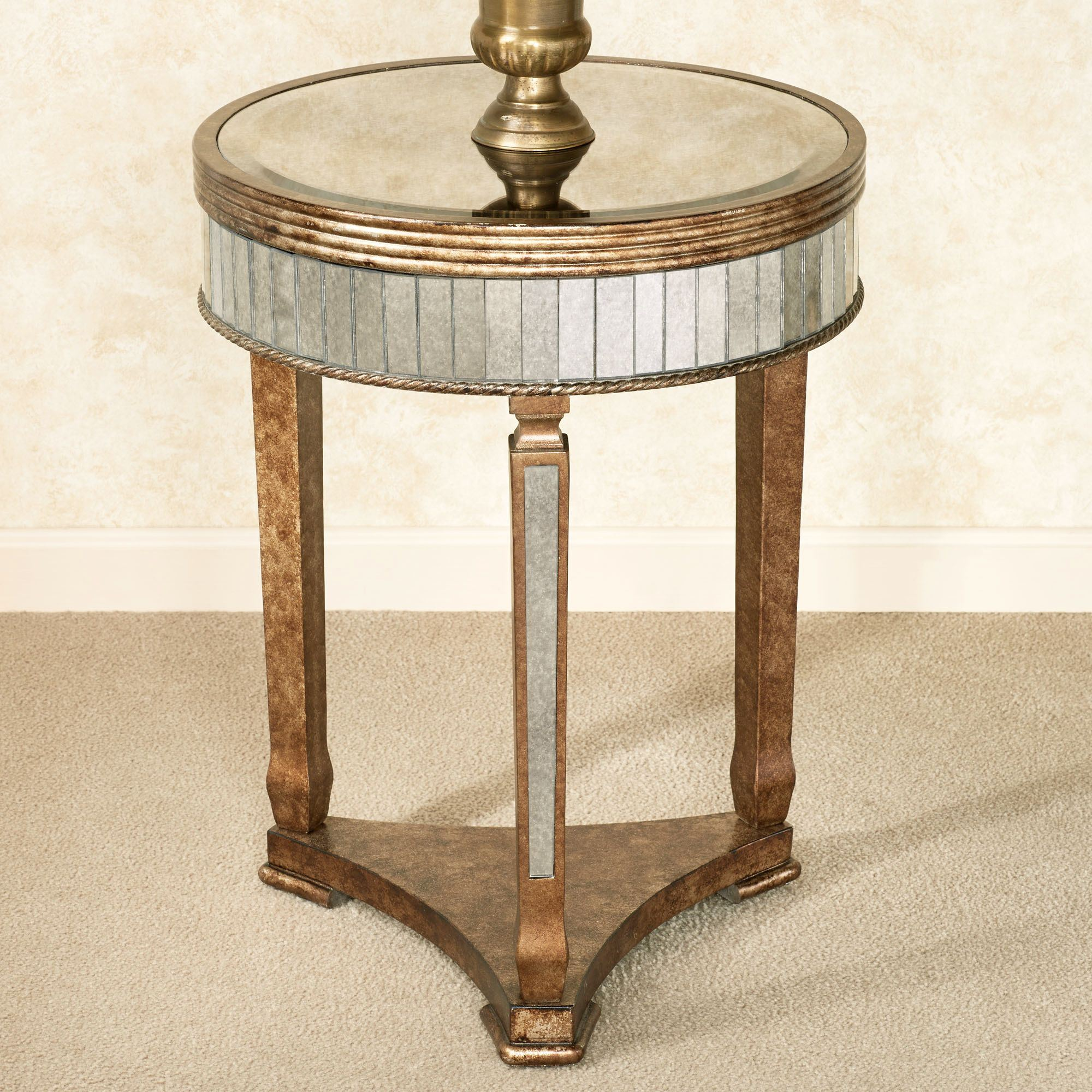 round venetian mirrored foyer table trgn bella mina accent gold click expand antiqued tabl living room mirror furnitu for premade legs white distressed wood coffee sliding barn