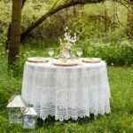 round white lace tablecloth dsc accent table cloths outdoor rehearsal dinner tall narrow entryway eileen gray side glass decorative tables marble bistro and chairs lamp shades for 150x150