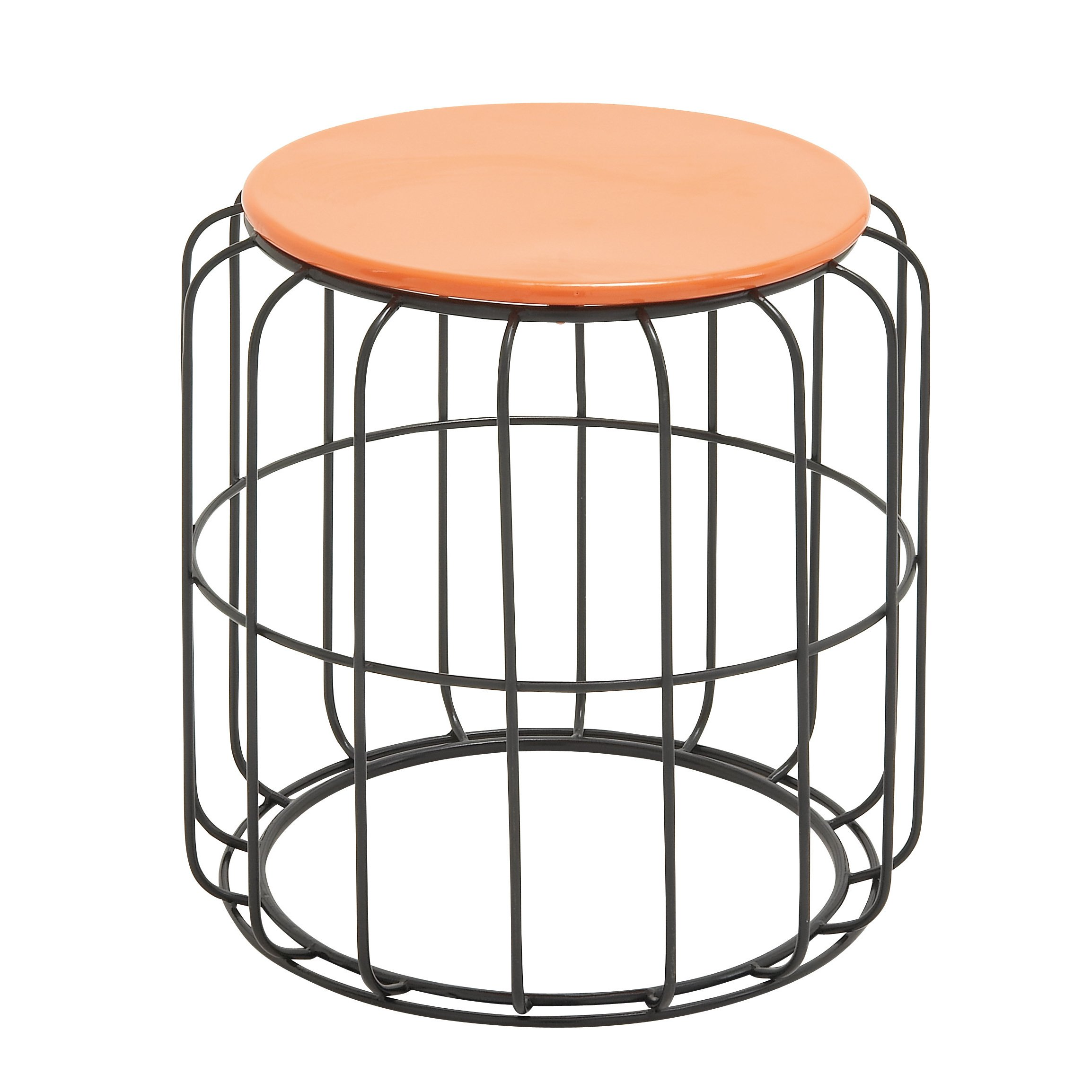 round wire side table orange top free shipping today outdoor tables for small spaces electric wall clock home goods kitchen console lamp design ikea dining set runner quilt kits