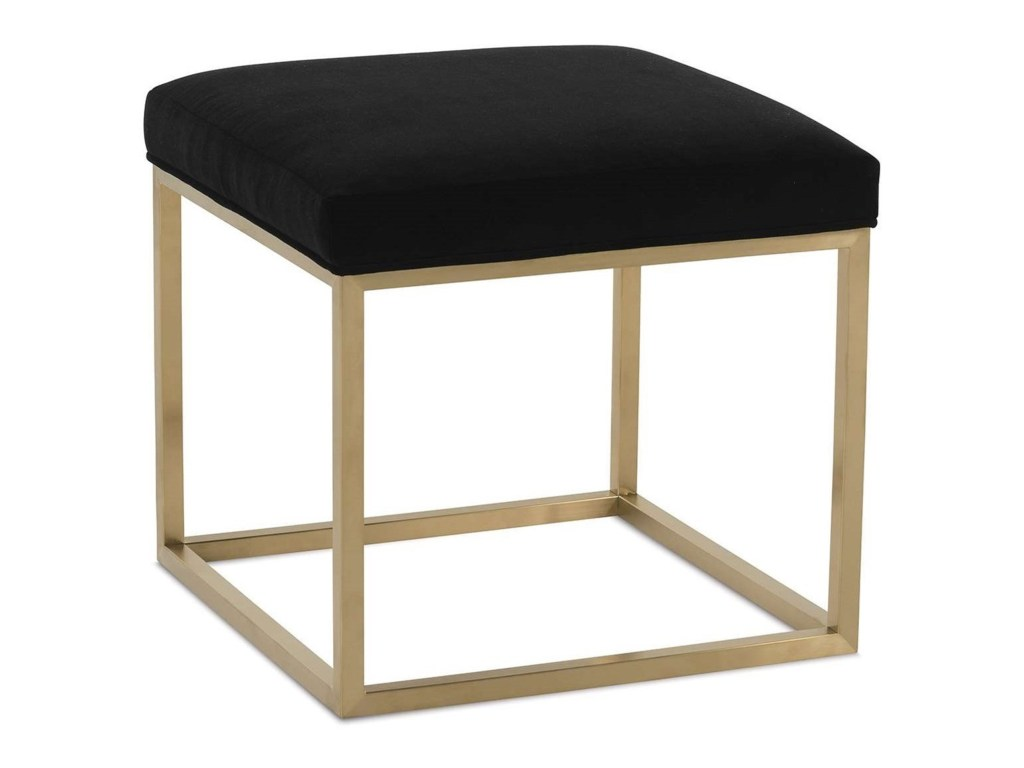 rowe percy contemporary accent cube ott with metal frame rooms products color wood table percycontemporary mid century modern round pilgrim furniture rain drum piece nesting