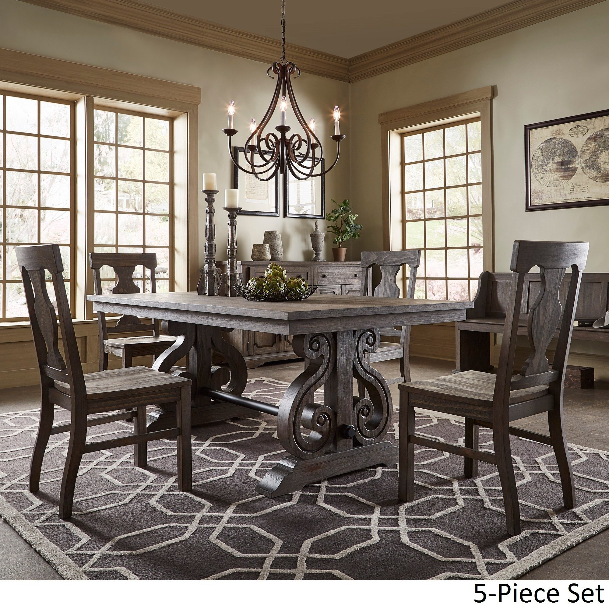 rowyn wood extendable dining table set inspire artisan accent pieces pallet patio furniture sets silver living room accessories end cedarwood target shoe storage square trunk