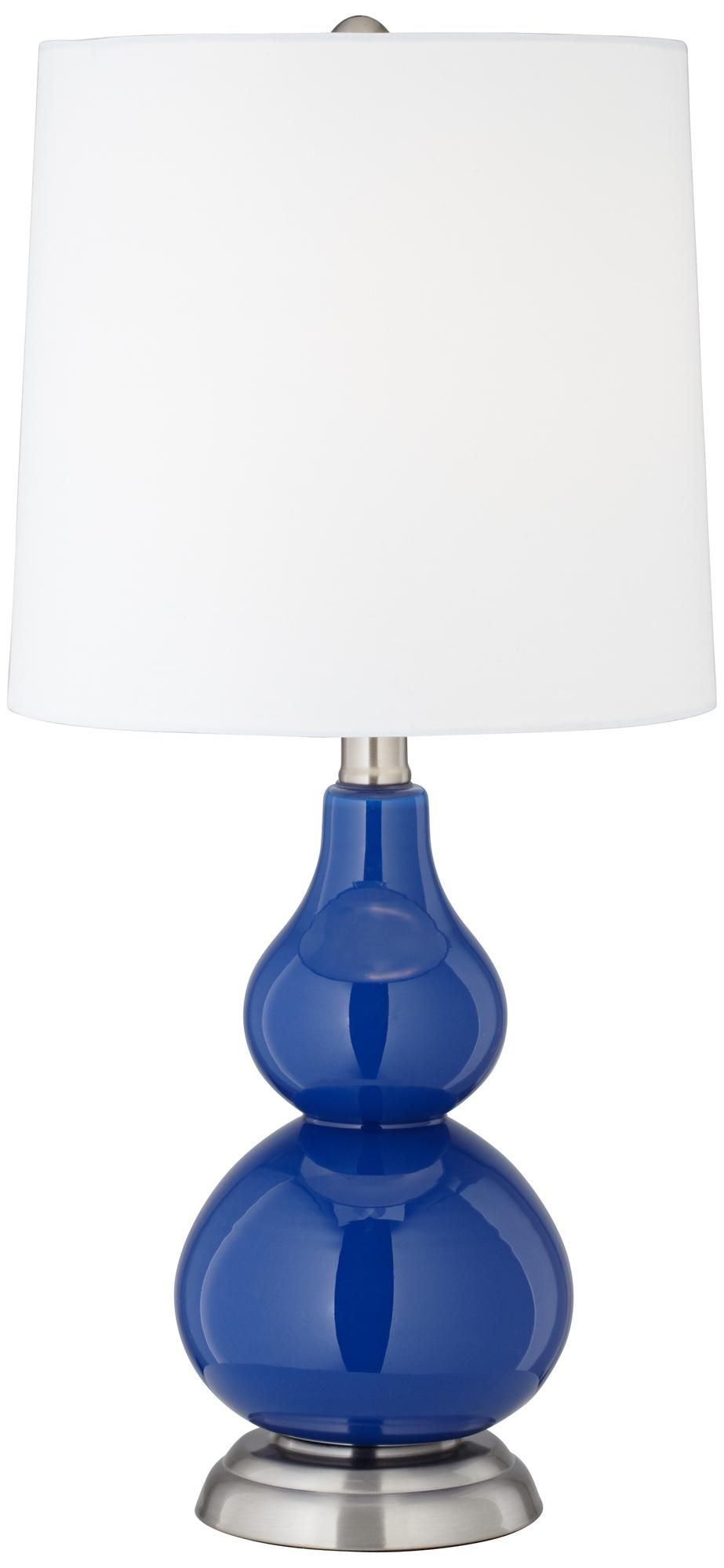 royal blue small gourd accent table lamp first employee round purchase couldn happier linon galway white ocean decor retro furniture cordless led side lamps for living room