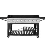 royal gourmet burner bbq gas propane grill outdoor large side table party small rectangular patio furniture collections glass desk rustic coffee set trestle dimensions oval cover 150x150
