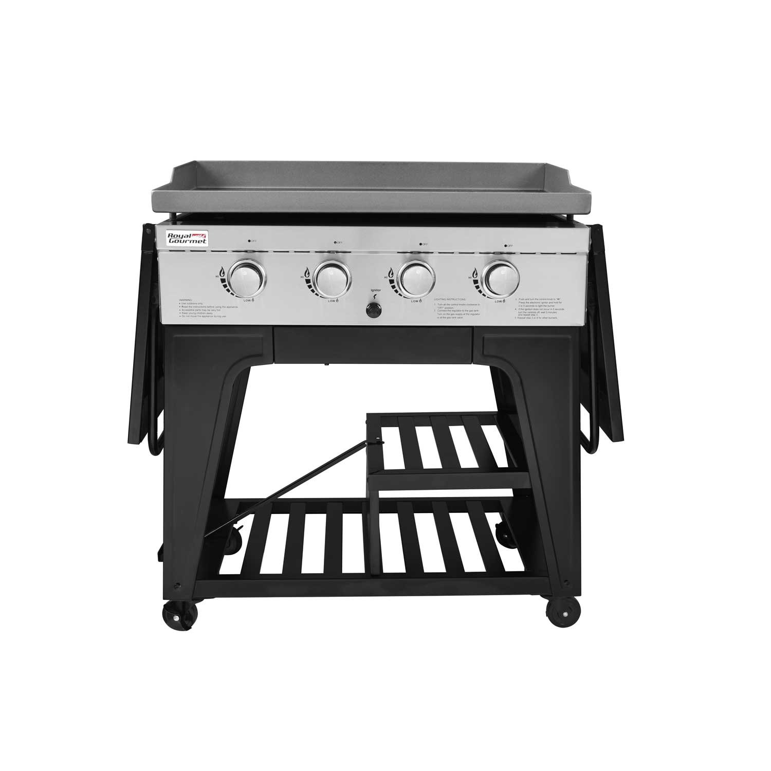 royal gourmet cooking station burner liquid propane gas grill with side table outdoor rectangular marble dining cherry occasional tables sofa set multi drawer chest target end