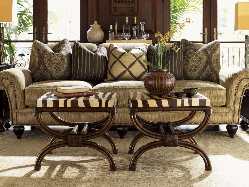 royal kahala edgewater sofa and striped delight accent table tommy zebra bahama tables long farmhouse dining west elm knock off mirrored bedside lockers pier one wicker chair