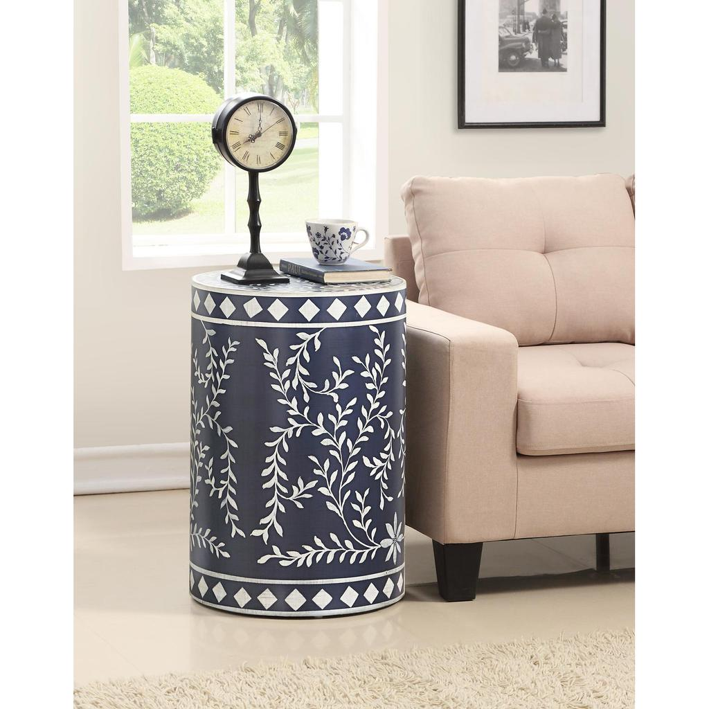 royals blue and white round accent table casaza plastic side target ceramic stool small patio vintage french outdoor top hall with drawers console room essentials queen comforter