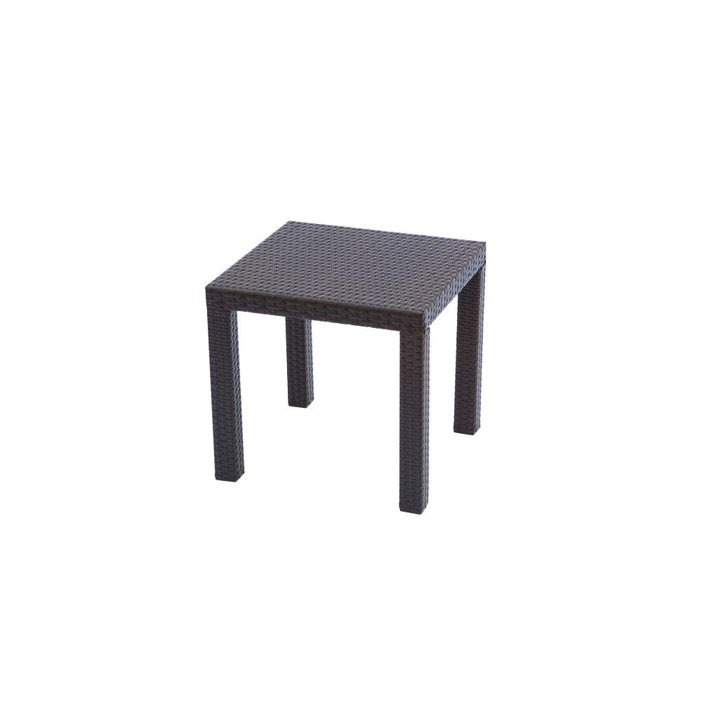 rst brands espresso rattan square patio side table outdoor tables tall accent black counter height dining set lamps for living room contemporary blues clues notebook large garden