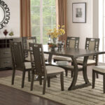 rubber wood dining set earthy grey hues for affordable better homes and gardens mercer accent table vintage oak brown leather recliner small round patio west elm marble black 150x150