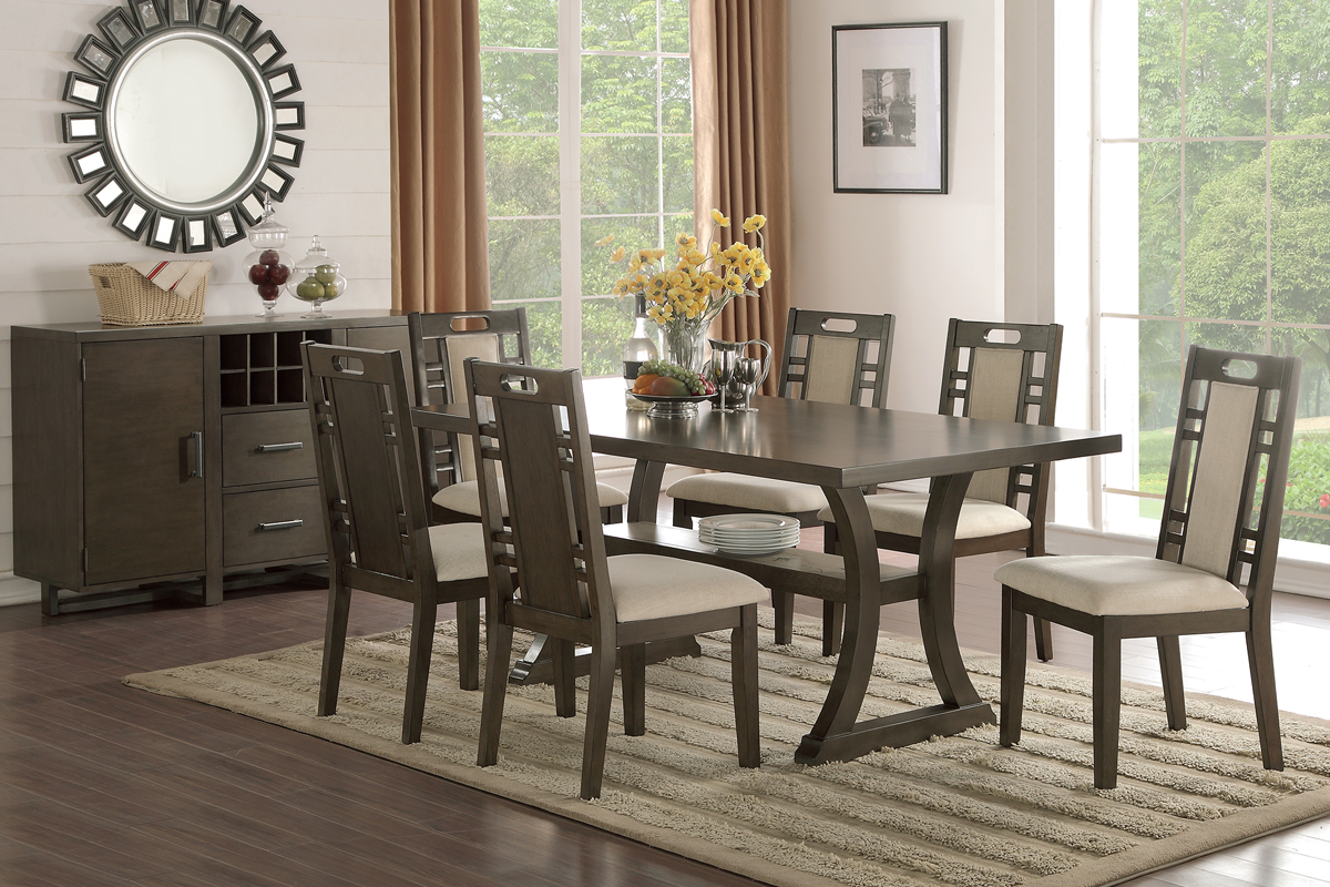 rubber wood dining set earthy grey hues for affordable better homes and gardens mercer accent table vintage oak brown leather recliner small round patio west elm marble black