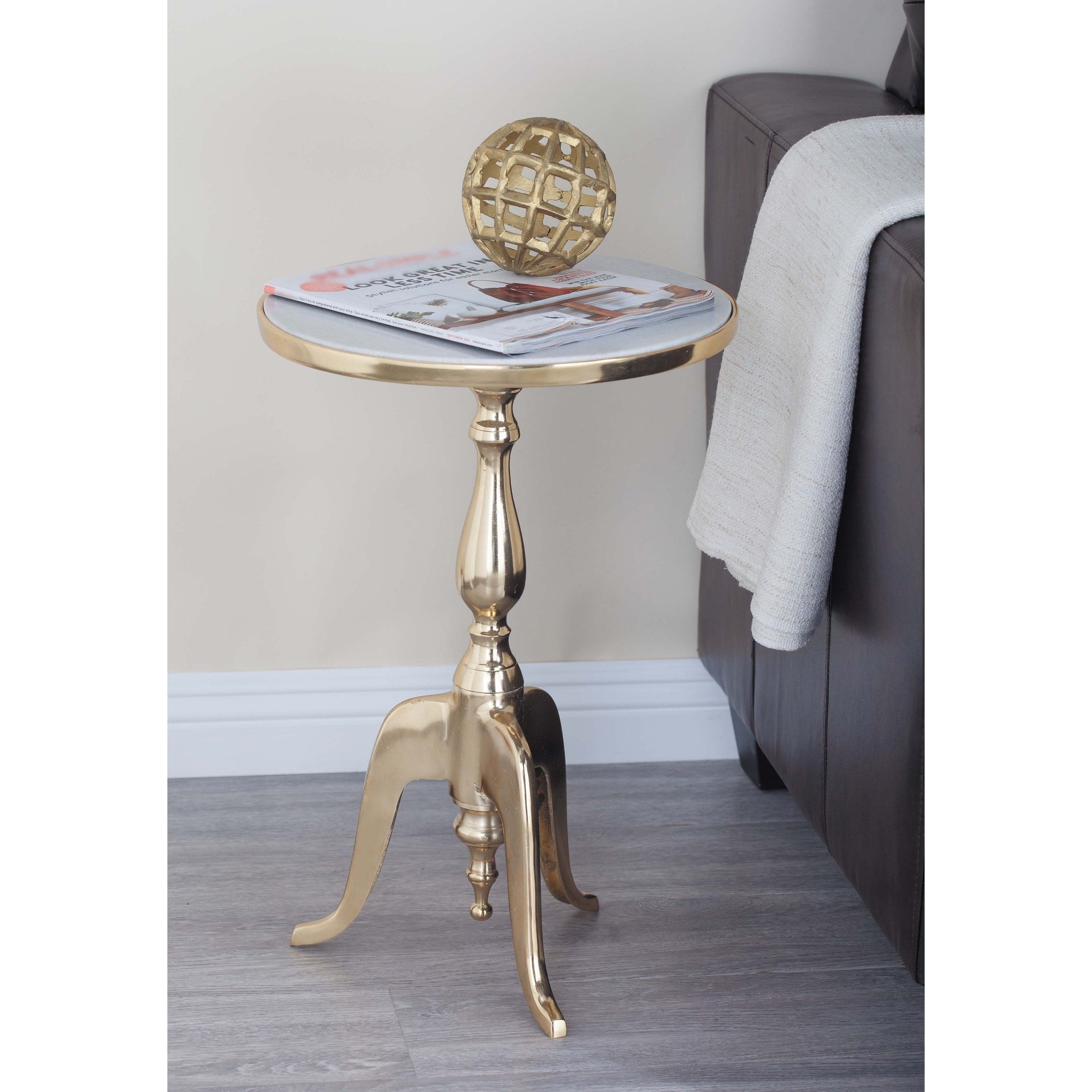 rusitc inch gold and gray round accent table studio free shipping today outdoor top covers rectangle end with drawer dining room chairs arms antique white square coffee ideas pier