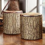 rustic accent furniture with moose bear designs black forest decor cushioned tree bark log seat wood table fire pit set oriental desk lamp modern occasional tables pier imports 150x150