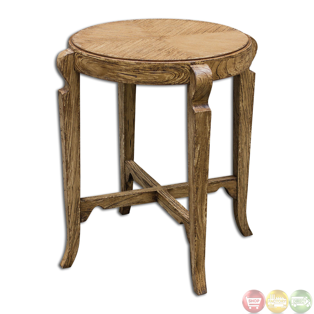 rustic accent table tables bandi country aged wooden white unique furniture small red farmhouse plans fall placemats and napkins patio bar cover large silver lamp demilune corner