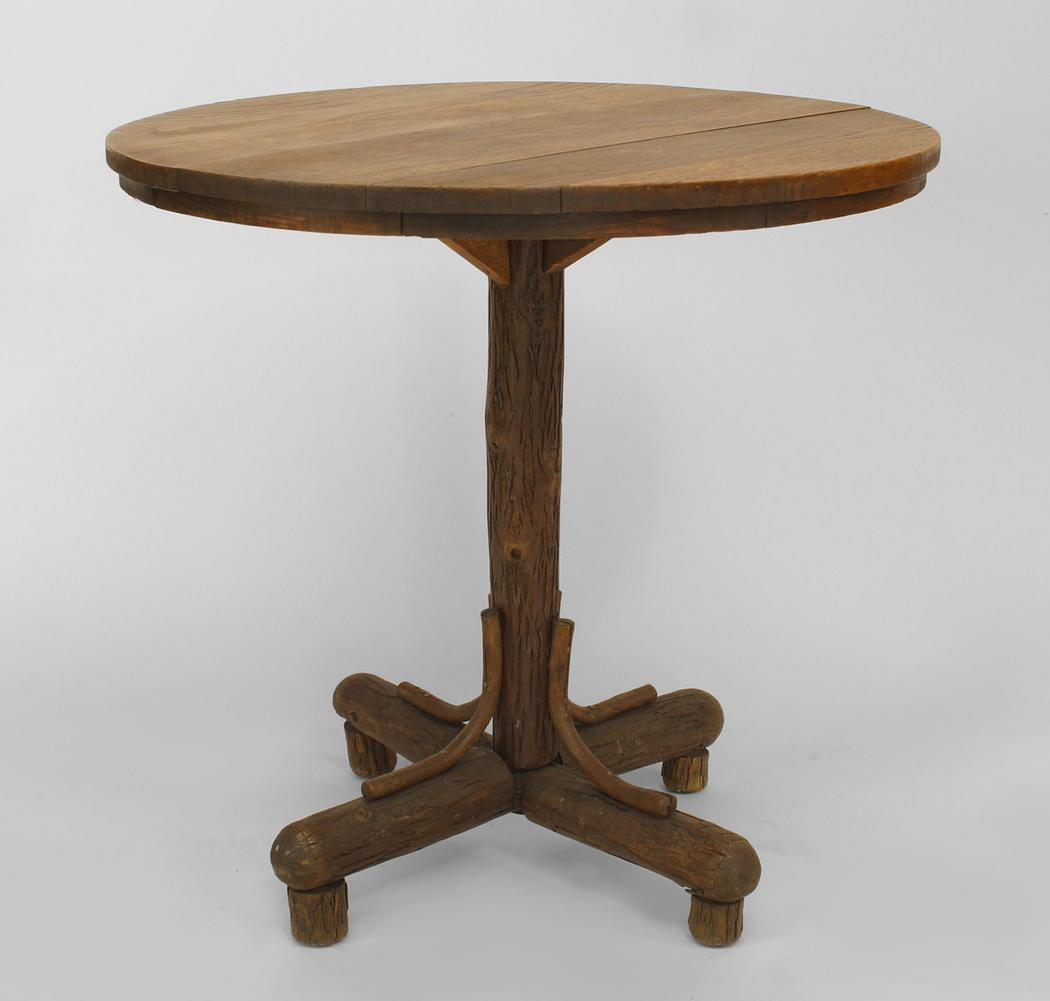 rustic accent table tables end round log wood long farm bedroom design furniture for entryway pub dining set faux marble home interior decoration ideas brass frame coffee portable