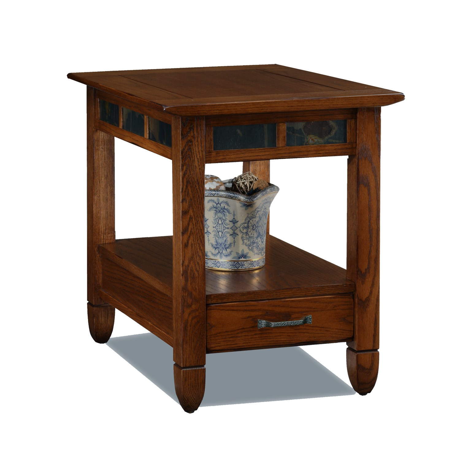 rustic accent table tables leick home slatestone end oak corner wrought iron bistro set cloth uttermost gin cube two bulb lamp tablecloth blue vase west elm petite shade floor