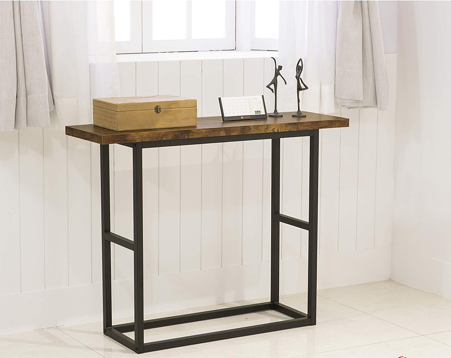 rustic amber finish metal frame console sofa accent table kitchen dining coffee linen small outdoor winsome timmy side lamps leaf round wood with glass top little drawers dressing